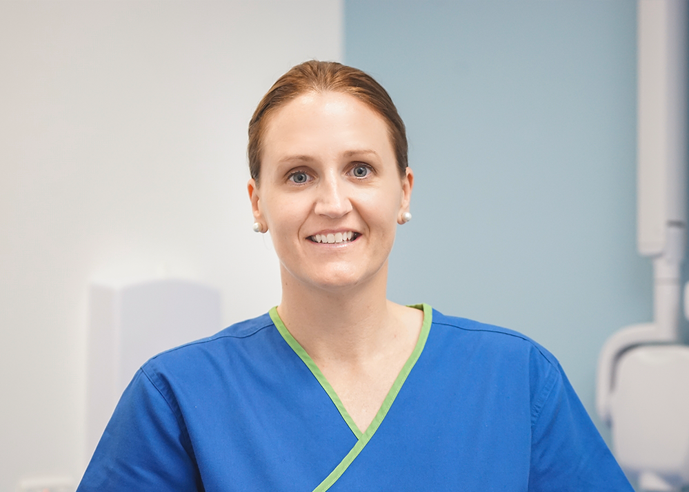 Julie McNutt, our dental hygienist, smiles in one of our operatories | casuarina nt dentist